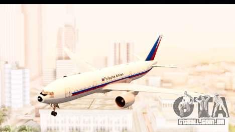 Boeing 777-200LR Philippine Airline Retro Livery para GTA San Andreas