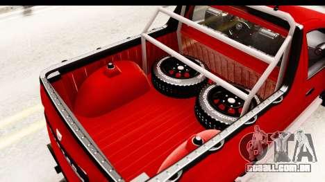 Dacia Duster Pickup para vista lateral GTA San Andreas