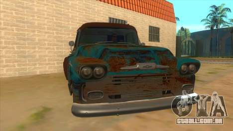 Chevrolet Apache para GTA San Andreas vista traseira