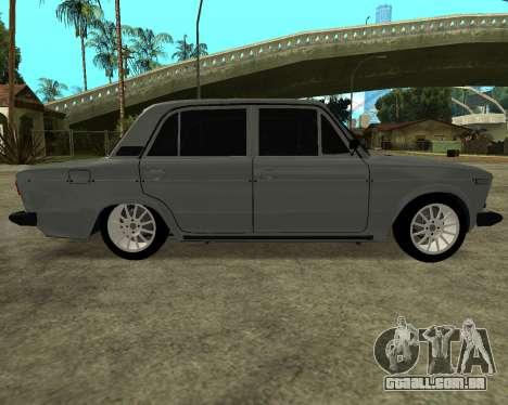 VAZ 2106 arménio para GTA San Andreas esquerda vista