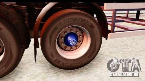Trailer ETS2 v2 Nr. 1 para GTA San Andreas vista traseira