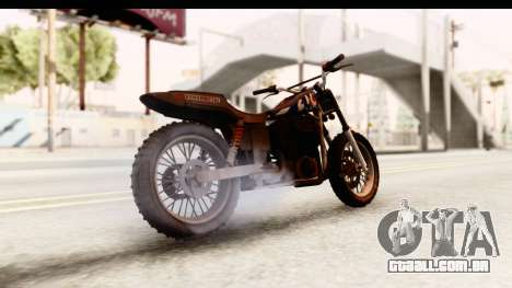 GTA 5 Western Cliffhanger Custom v2 IVF para GTA San Andreas traseira esquerda vista