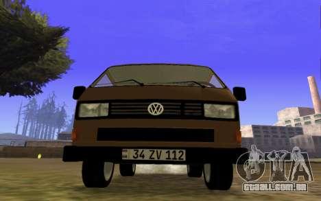 Volkswagen Transporter T-3 Armenian para GTA San Andreas esquerda vista