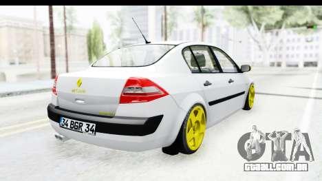 Renault Megane para GTA San Andreas esquerda vista
