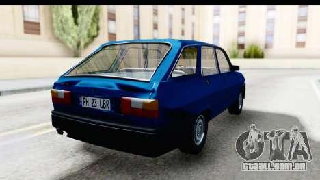 Dacia Liberta para GTA San Andreas vista direita