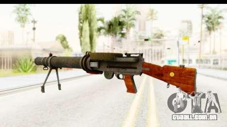 Lewis Machinegun para GTA San Andreas segunda tela