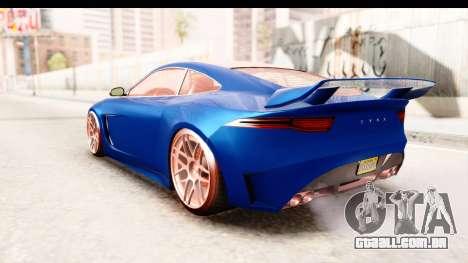 GTA 5 Ocelot Lynx para GTA San Andreas traseira esquerda vista