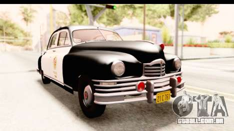 Packard Standart Eight 1948 Touring Sedan LAPD para GTA San Andreas vista direita
