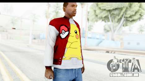 Jacket Pokemon Pokeball para GTA San Andreas terceira tela