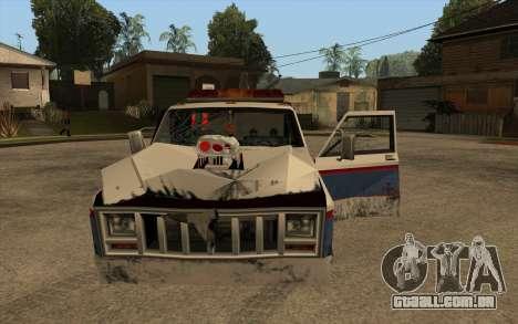 Novo reboque para GTA San Andreas vista interior