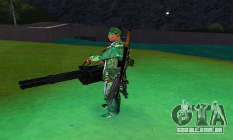 M134 MINIGUN BLACK para GTA San Andreas terceira tela