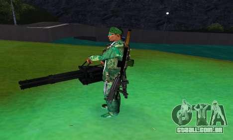 M134 MINIGUN BLACK para GTA San Andreas terceira tela