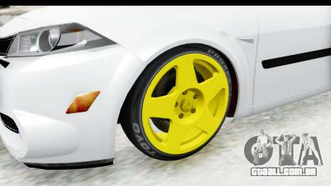 Renault Megane para GTA San Andreas vista traseira