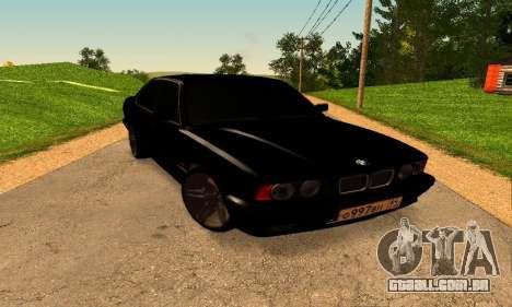 BMW 5-er E34 para GTA San Andreas vista direita