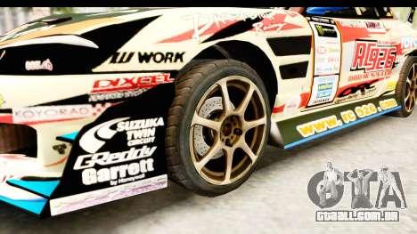 D1GP Nissan Silvia RC926 Toyo Tires para GTA San Andreas vista traseira