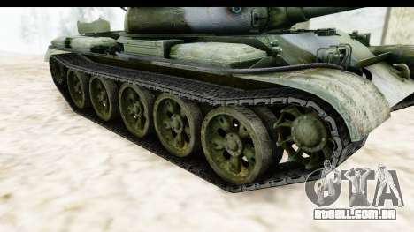 T-62 Wood Camo v2 para GTA San Andreas vista interior