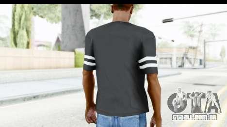 Adidas 03 T-Shirt para GTA San Andreas terceira tela