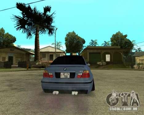 BMW M3 Armenian para GTA San Andreas vista interior