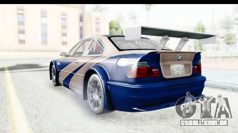 NFS Carbon - BMW M3 GTR para GTA San Andreas vista direita