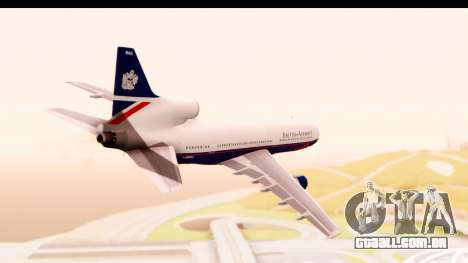 Lockheed L-1011-100 TriStar British Airways para GTA San Andreas vista direita