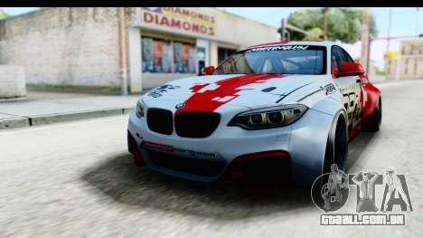 BMW M235i HGK para GTA San Andreas traseira esquerda vista