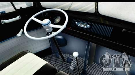 Volkswagen Transporter T1 Deluxe Bus para GTA San Andreas vista traseira