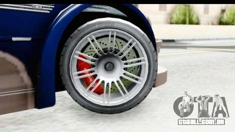 NFS Carbon - BMW M3 GTR para GTA San Andreas vista traseira