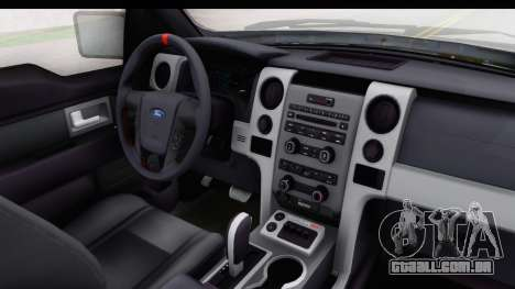 Ford F-150 Stock para GTA San Andreas vista interior