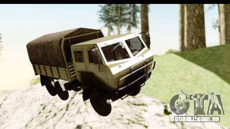 Dongfeng SX Military Truck para GTA San Andreas traseira esquerda vista