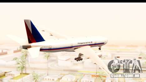 Boeing 777-200LR Philippine Airline Retro Livery para GTA San Andreas vista direita