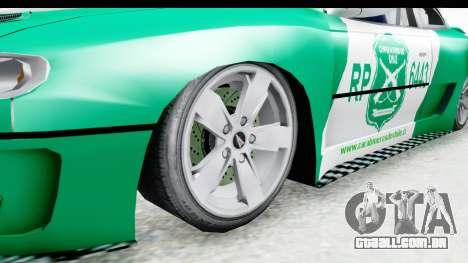 Pontiac GTO 2006 Carabineros De Chile para GTA San Andreas vista traseira