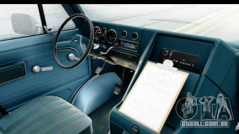 GMC Vandura 1985 White Stripes IVF para GTA San Andreas vista interior
