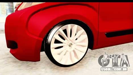 Fiat Fiorino v2 para GTA San Andreas vista traseira