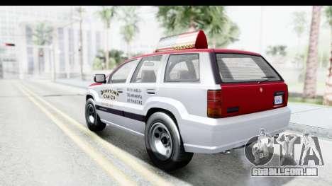 GTA 5 Canis Seminole Downtown Cab Co. Taxi para GTA San Andreas esquerda vista