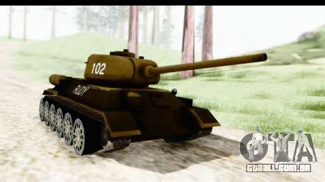 T-34-85 Rudy 102 para GTA San Andreas vista direita
