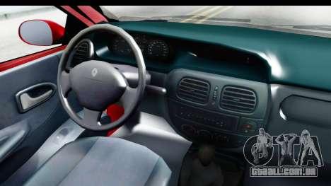 Renault Megane Coupe para GTA San Andreas vista traseira