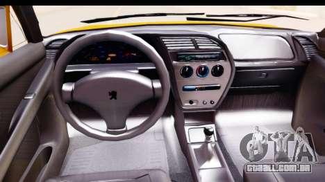 Peugeot 306 GTI para GTA San Andreas vista interior