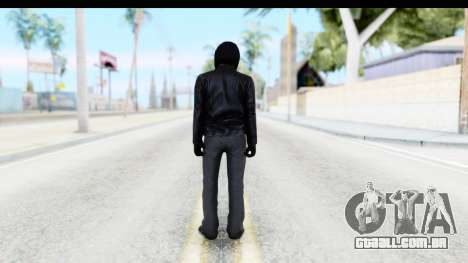 GTA 5 Heists DLC Male Skin 2 para GTA San Andreas terceira tela