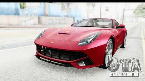 Ferrari F12 Berlinetta 2014 para GTA San Andreas traseira esquerda vista