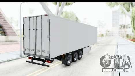 Trailer ETS2 v2 Old Skin 3 para GTA San Andreas traseira esquerda vista
