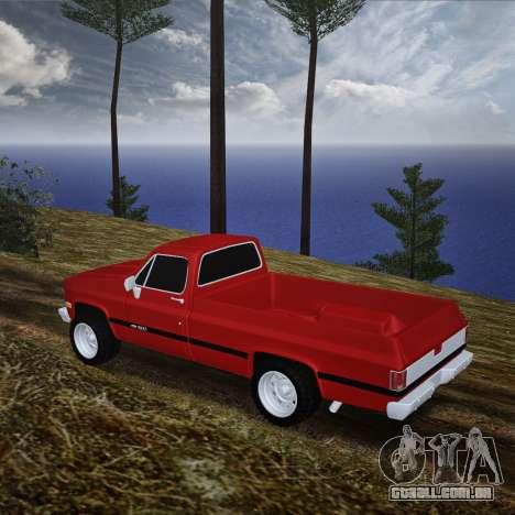 Chevrolet Silverado para GTA San Andreas traseira esquerda vista