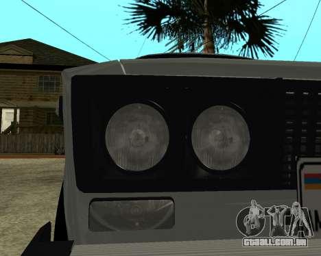 VAZ 2106 arménio para as rodas de GTA San Andreas