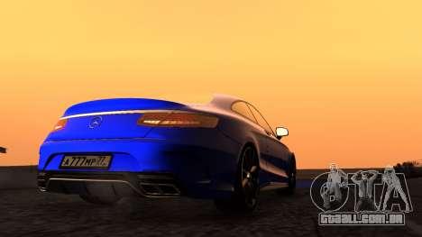 Mercedes-Benz S63 Coupe para GTA San Andreas vista direita