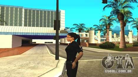 A pele de uma funcionária da polícia para GTA San Andreas por diante tela