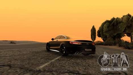 Mercedes-Benz S63 Coupe para GTA San Andreas esquerda vista