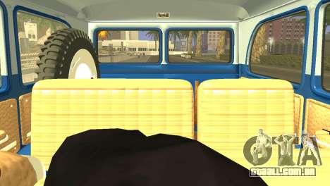 Jeep Station Wagon 1959 para GTA San Andreas vista traseira