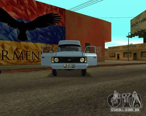 Moskvich 2715 Arménio para GTA San Andreas esquerda vista