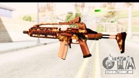 SCAR-LK Hex Camo Green para GTA San Andreas segunda tela