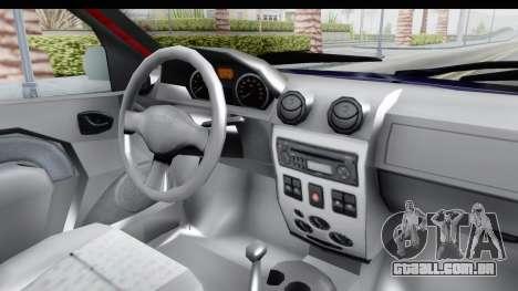 Dacia Logan MCV para GTA San Andreas vista interior