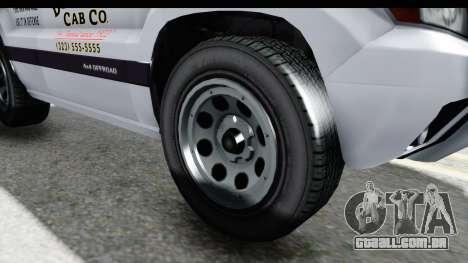 GTA 5 Canis Seminole Downtown Cab Co. Taxi para GTA San Andreas vista traseira